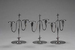 Set of Three Elis Bergh Candle Sticks