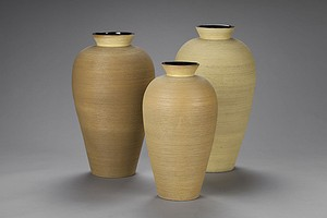 Three Floor Vases