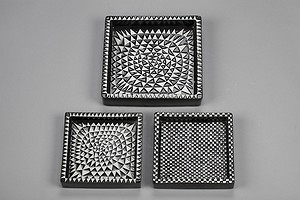 "Three ""Domino"" Plates"
