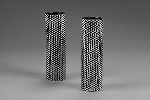 "Two ""Domino"" Vases"