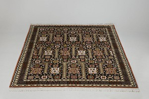 "Large ""Black Garden"" Carpet"