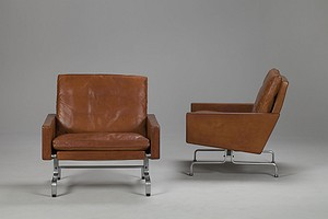 Pair of PK31 Armchairs