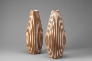 Two Ekeby Vases Inca series