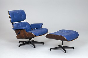 Eames Lounge Chair with Stool