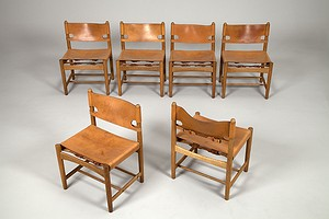 6 Mogensen 3238 Leather Chairs