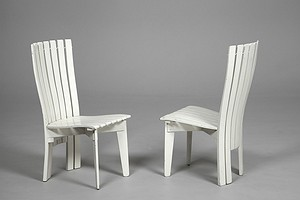 Two Aalto garden chairs