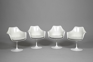 Four Tulip Armchairs