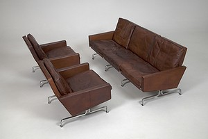 PK 31/3 Sofa and PK 31/1 Chairs