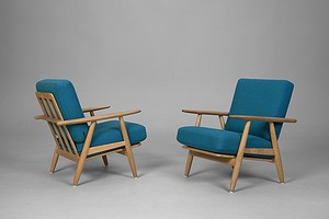 "Pair of Wegner ""Cigar"" Chairs"