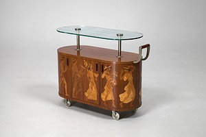 Inlaid Bar Trolley