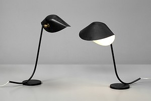 "Pair of Serge Mouille ""Antony"" Table Lamps"