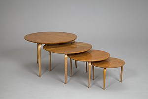 Group of Bruno Mathsson Tables