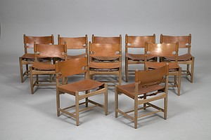 "Set of Ten ""Hunting Chairs"""