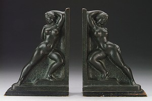 Bronze Bookends
