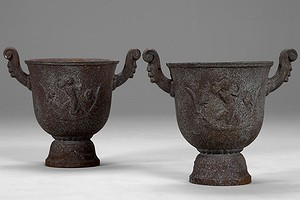 "Ivar Johnson Pair of ""Faun"" Urns"