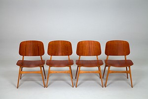 Four Borge Mogensen Chairs