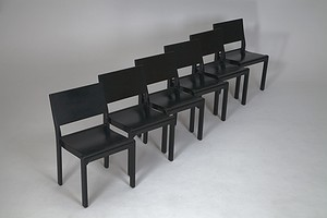 Set of Six Aalto stacking chairs