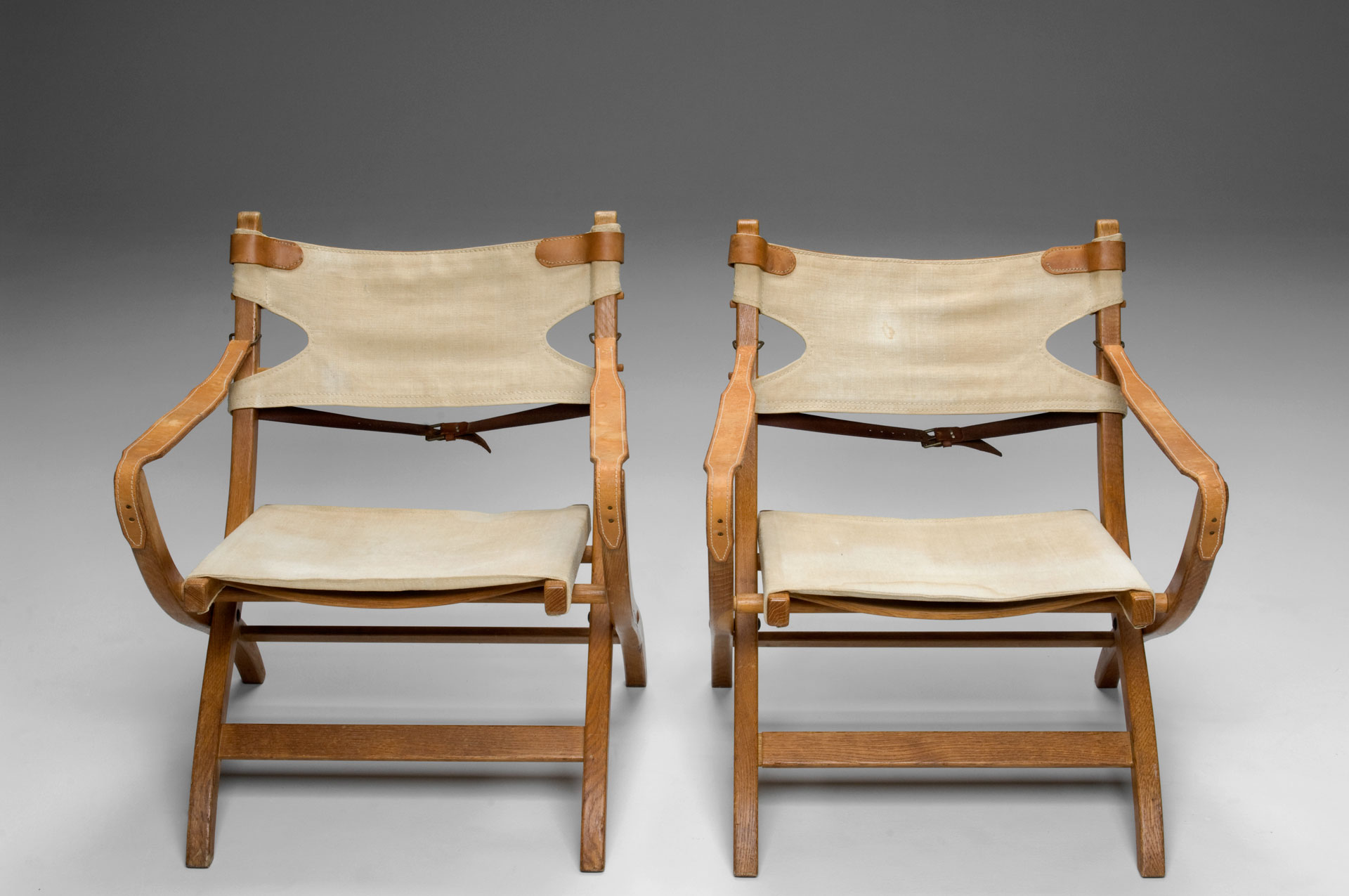 Jacksons Pair of Safari Chairs Poul Hundevad