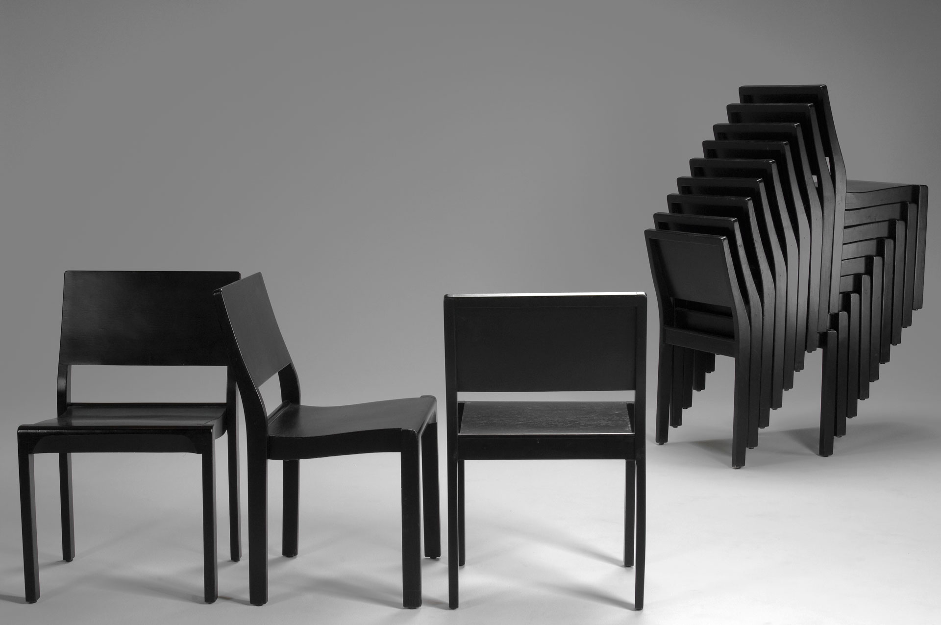 Set of No. 611 Stacking Chairs