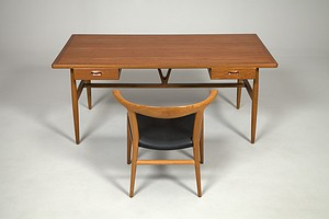 Hans J. Wegner Desk and Bull Chair