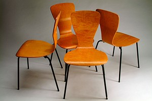 "Set of Four Wirkkala ""Nikke"" Chairs"