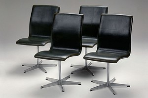 Set of Four Jacobsen Oxford Chairs