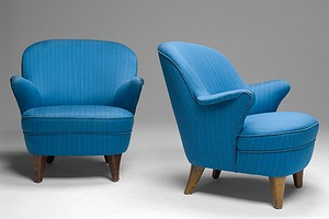 Pair of Forties Armchairs