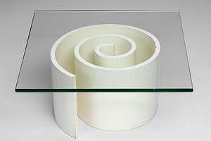 White Coil Table