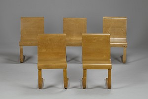 Set of five Aalto No. 21 Cantilever Chairs