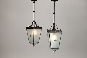 Pair of Ceiling Neoclassical Lamps
