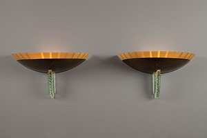 Pair of 1940s Wall Lamps