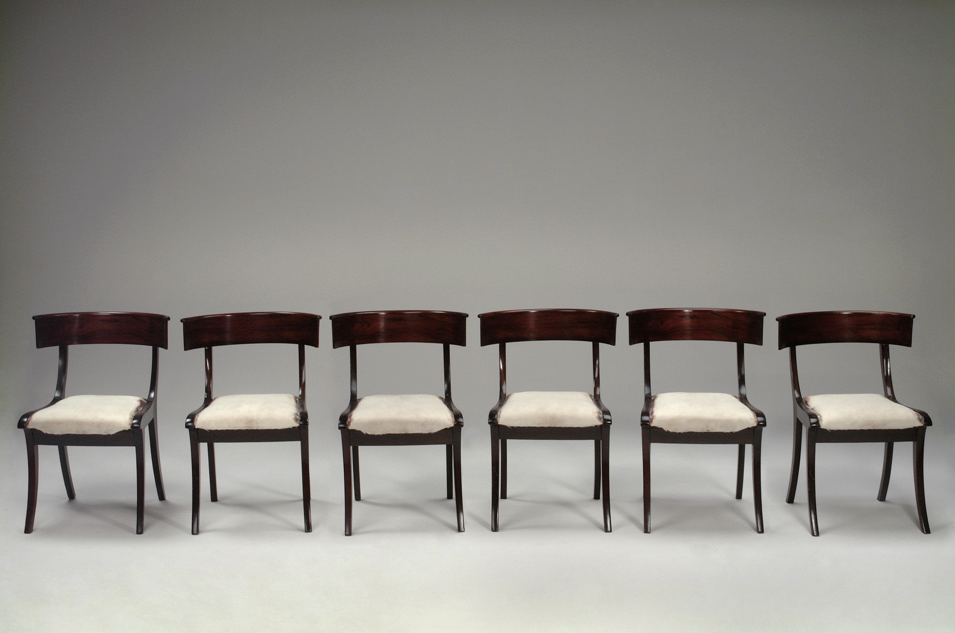 Set of Six Klismos Chairs