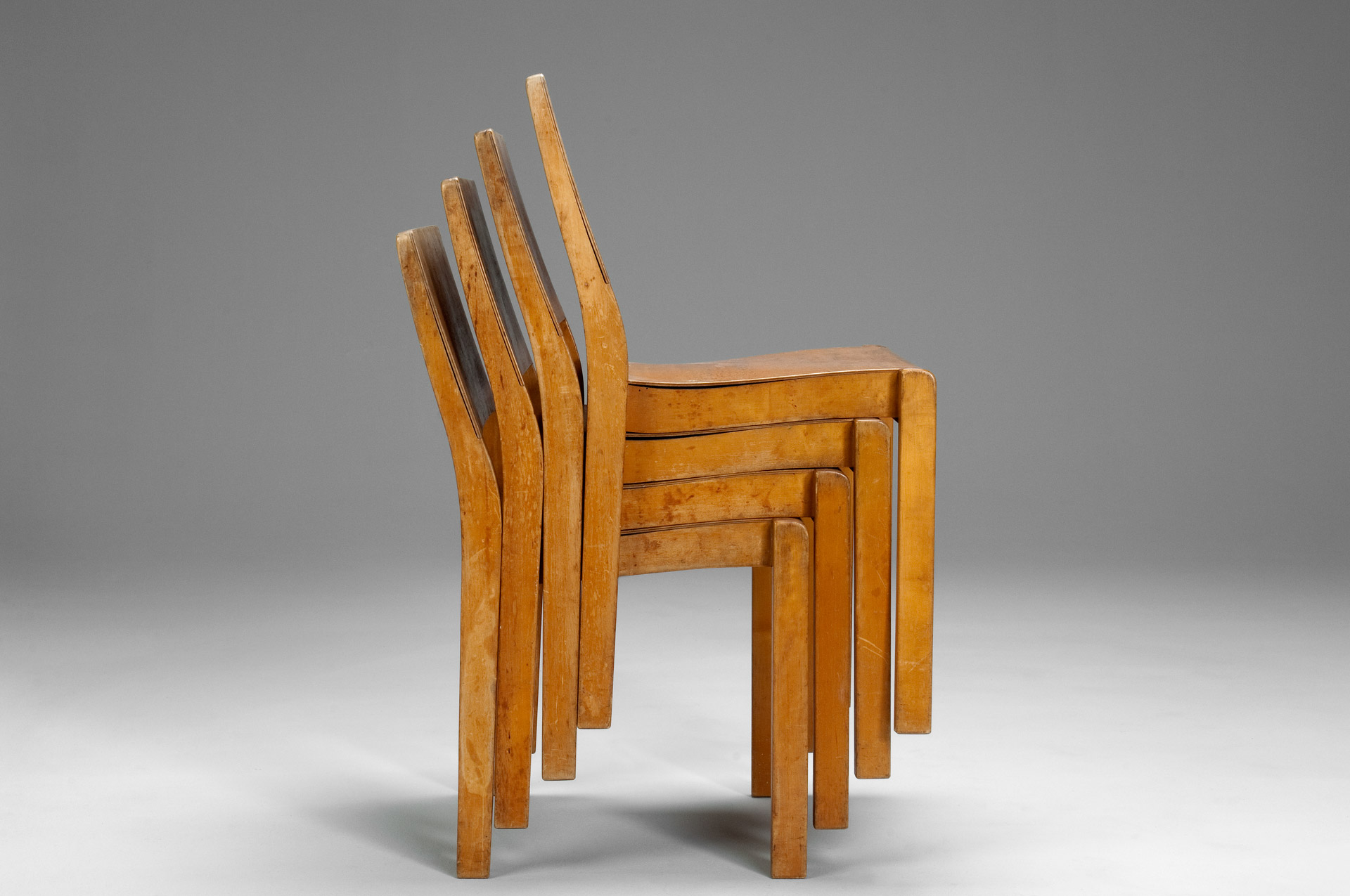 Jacksons Four Stacking Chairs Alvar Aalto