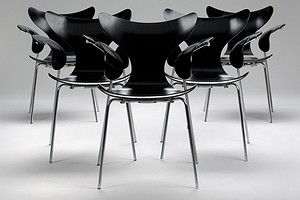 Set of Five Jacobsen Seagull Chairs