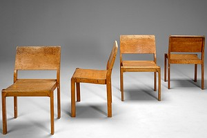 Four Alvar Aalto Stacking Chairs