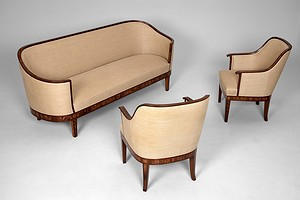 Malmsten Sofa and Pair of Chairs