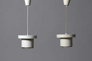 "Pair of Alvar Aalto ""A201"" Ceiling Lamp"