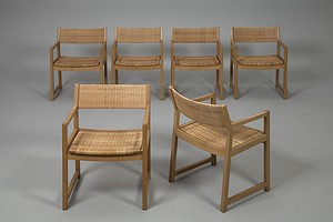 Set of Six Mogensen Armchairs