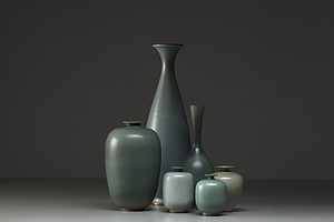 Berndt Friberg Group of Vases