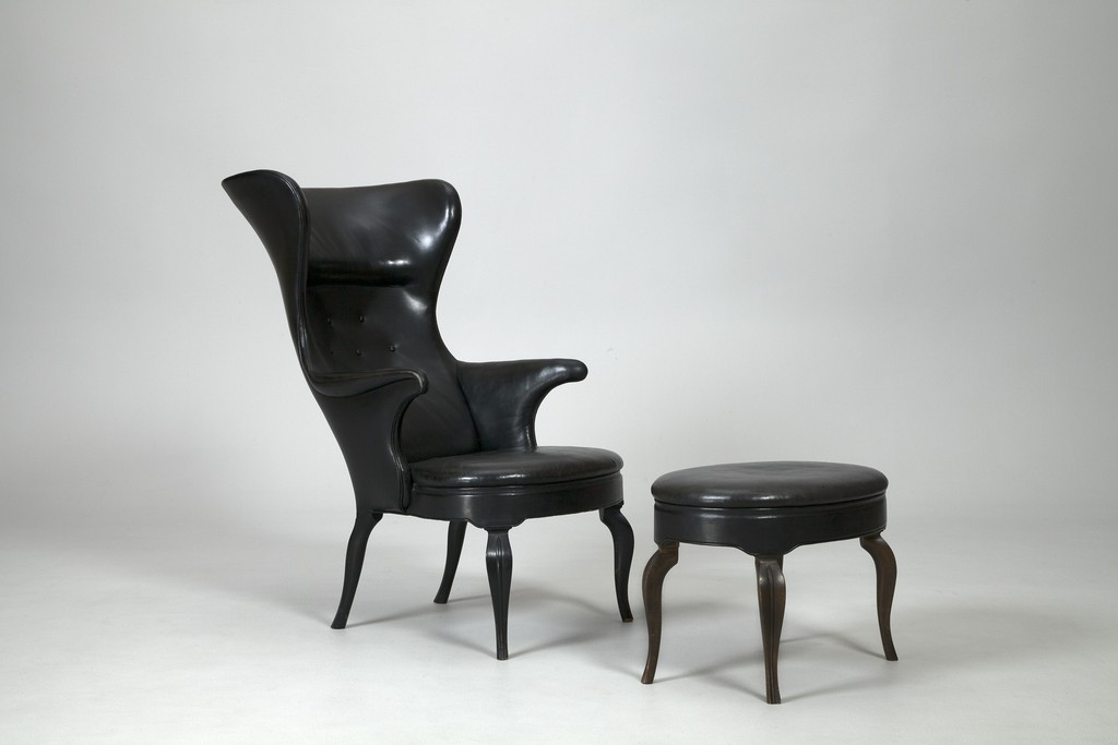 Frits Henningsen Wing Chair and Footstool