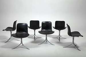 "A Set of Six ""PK 9"" Chairs."