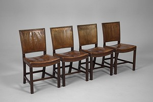 Set of four 'The Red Chair' Chairs