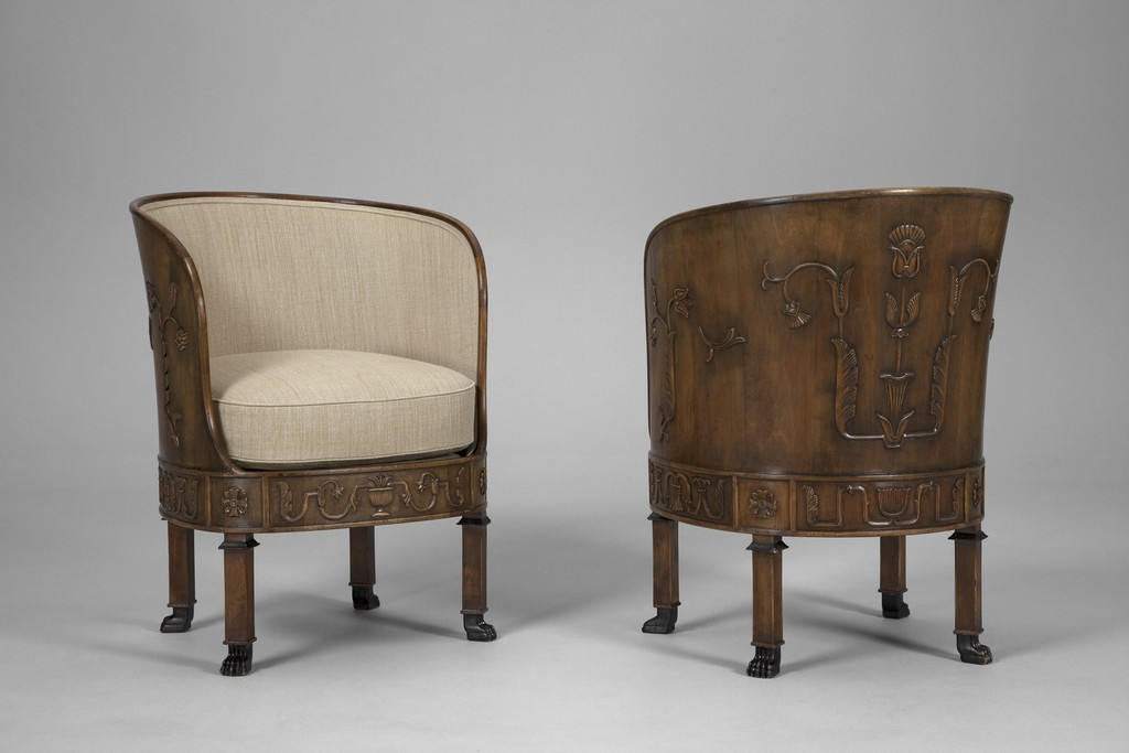 Pair of 'Ceasar' Armchairs