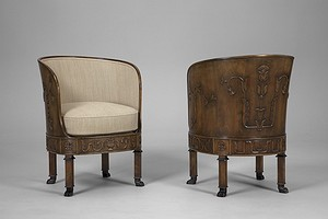 "Pair of Hjort ""Ceasar"" Armchairs"