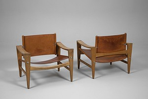 "Pair of ""Sawbuck"" Chairs"