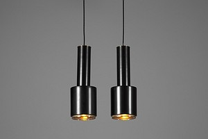 "Pair of Aalto Ceiling Lamps ""Hand Granada"""