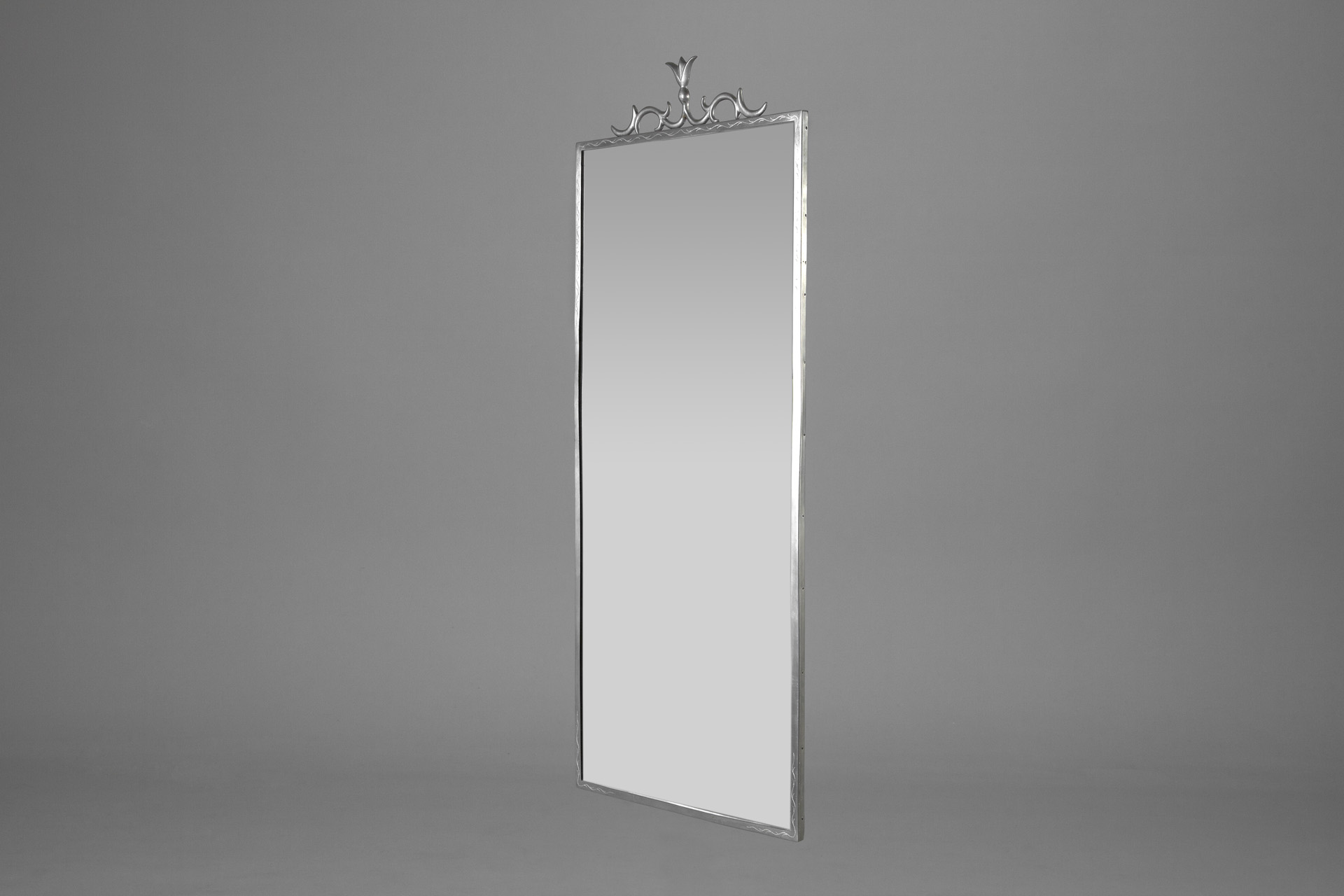 Neoclassical Pewter Mirror