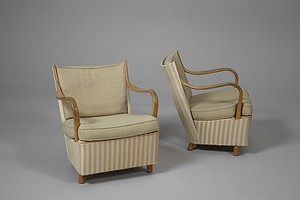 Pair of Early Bruno Mathsson Armchairs