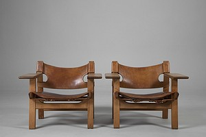 """The Spanish Chair"" Pair of Armchairs."