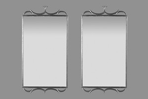 Pair of Svensk Tenn Pewter Mirrors